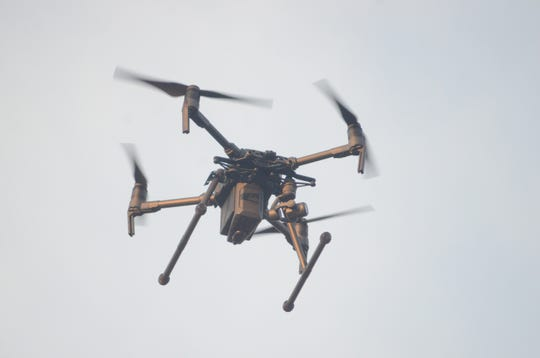 The drone purchased by the Battle Creek Police Department.