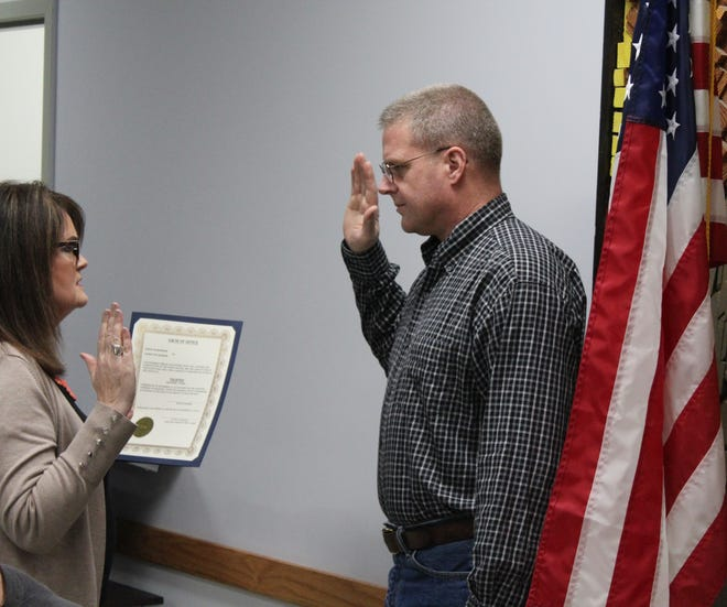 Kraig Dingman was sworn into office as a Bedford Charter Township trustee on Thursday.