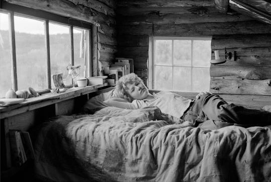 """""""Self-portrait in Maine,"""" taken in 1976, a silver gelatin print, is part of the collection of the Leslie-Lohman Museum in honor of Meryl Allison."""
