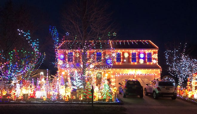 This brilliantly decorated home on Beach Street in Atco is one of more than 150 displays included in our 2020 South Jersey Christmas lights map.