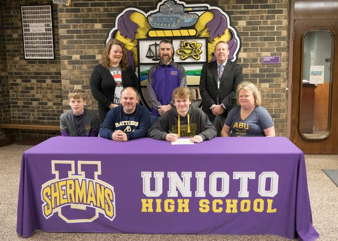 Another Unioto athlete is taking his talents to the collegiate level. On Friday, the Shermans' Ashten Moody declared his intent to wrestle at Alderson Broaddus University in Phillippi, West Virginia. Coming into his senior season at Unioto, Moody had a career record of 91-45 with 75 pins. Last season, he went 32-11 with 25 pins. On Dec. 1, he finished in first place in the 152-weight class at American Legion Post 81 at Jackson High School. Moody and Unioto will travel to Vinton County on Saturday to compete at the Spring Street Sports Invitational.