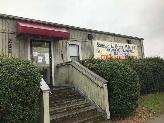 Dr. Samson Orusa's office on Stonecrossing Drive in Clarksville.