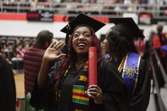 Aaliyah Harris Receives Her Diploma At Apsus Fall Commencement Exercises