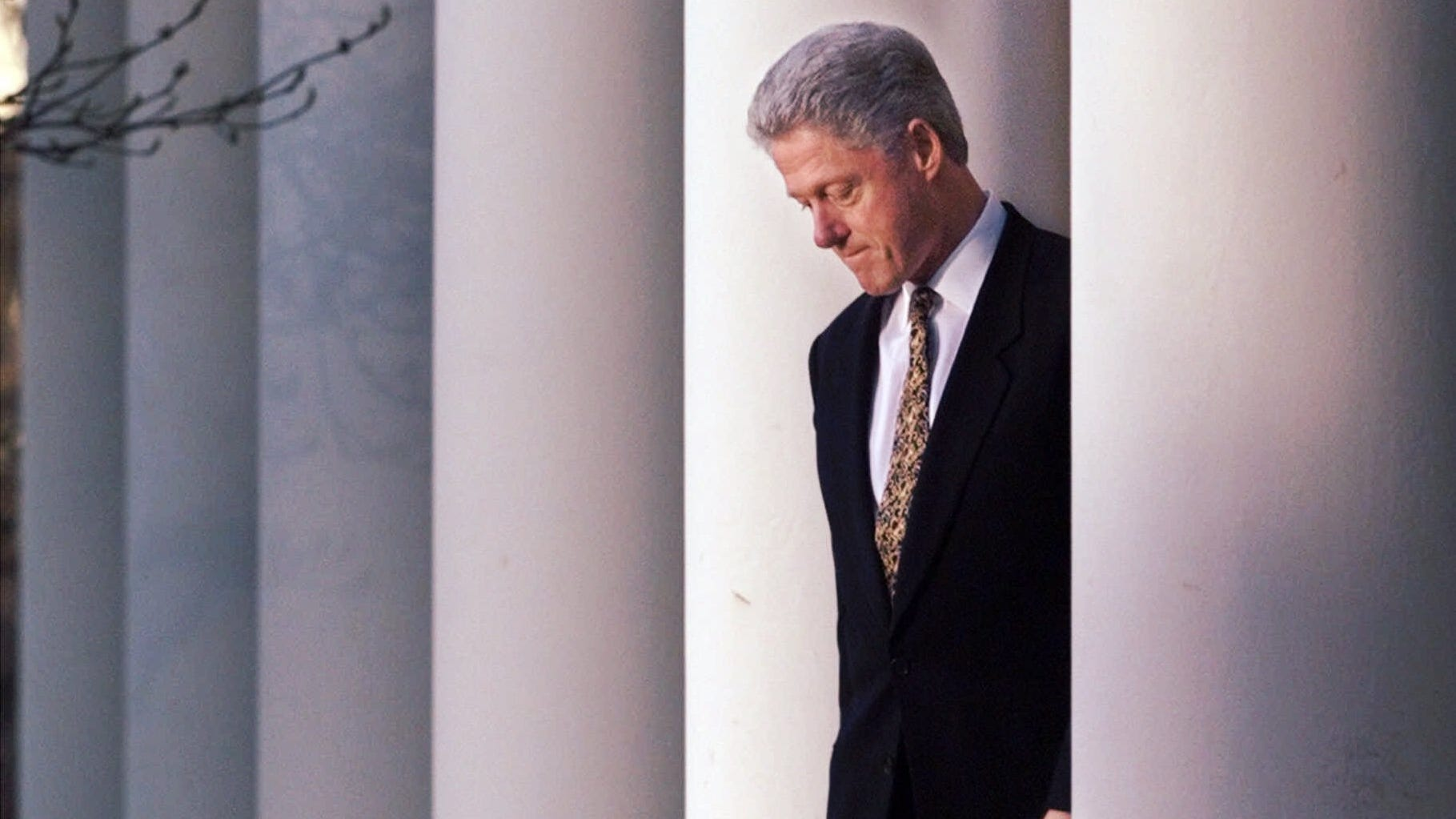 President Clinton walks to the podium to deliver a short statement on the impeachment inquiry in the Rose Garden of the White House in Washington Friday, Dec. 11, 1998.