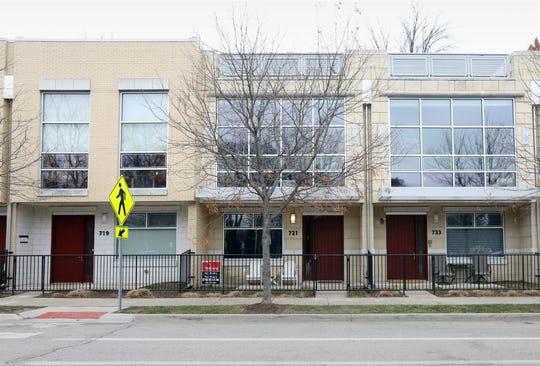 Exterior of Grant Park Town Lofts condominium in Royal Oak.