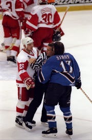 Joe Kocur had 43 fights in 1985-86, the highest single-season total of any Red Wings player during the decade of the 1980s.
