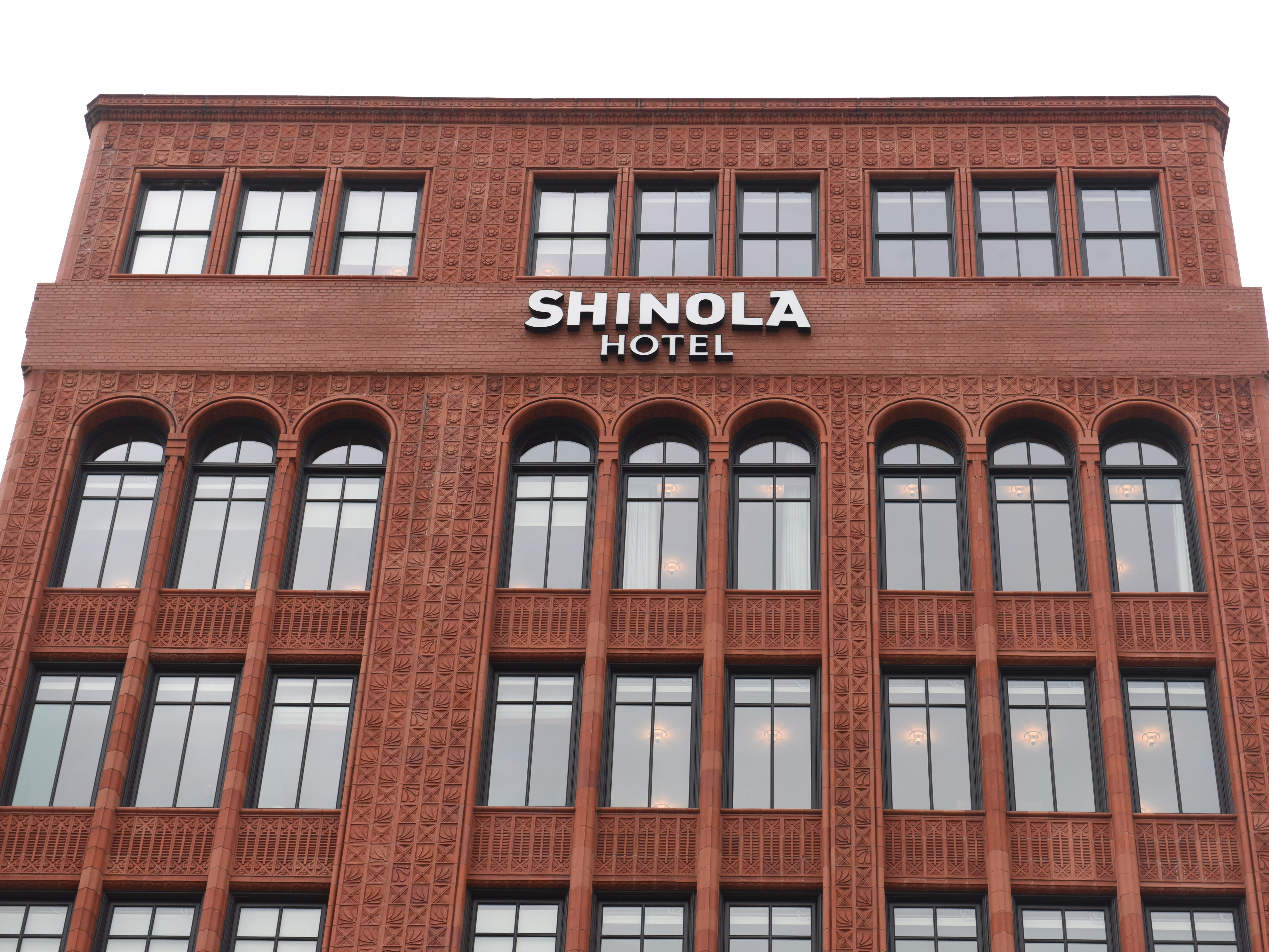 The eight-story Shinola Hotel at 1400 Woodward in downtown Detroit is preparing for its public opening on January 2, 2019.  The boutique hotel has 129 guest rooms plus 16,000 square feet for shops, bars and food.