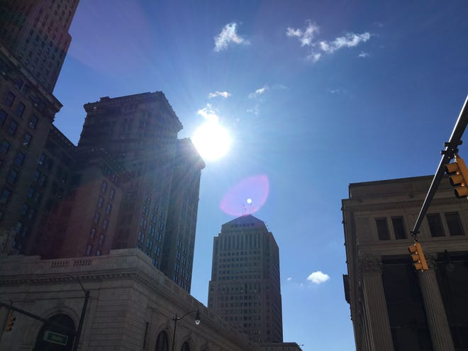 The weather will be warmer than usual this weekend.