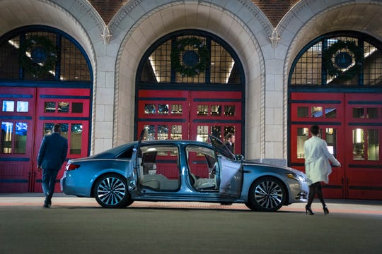 The new Continental's electronically controlled doors cannot be opened if the car is moving more than 2 miles per hour. That's because wind can swing suicide doors open and imperil the backseat passenger.
