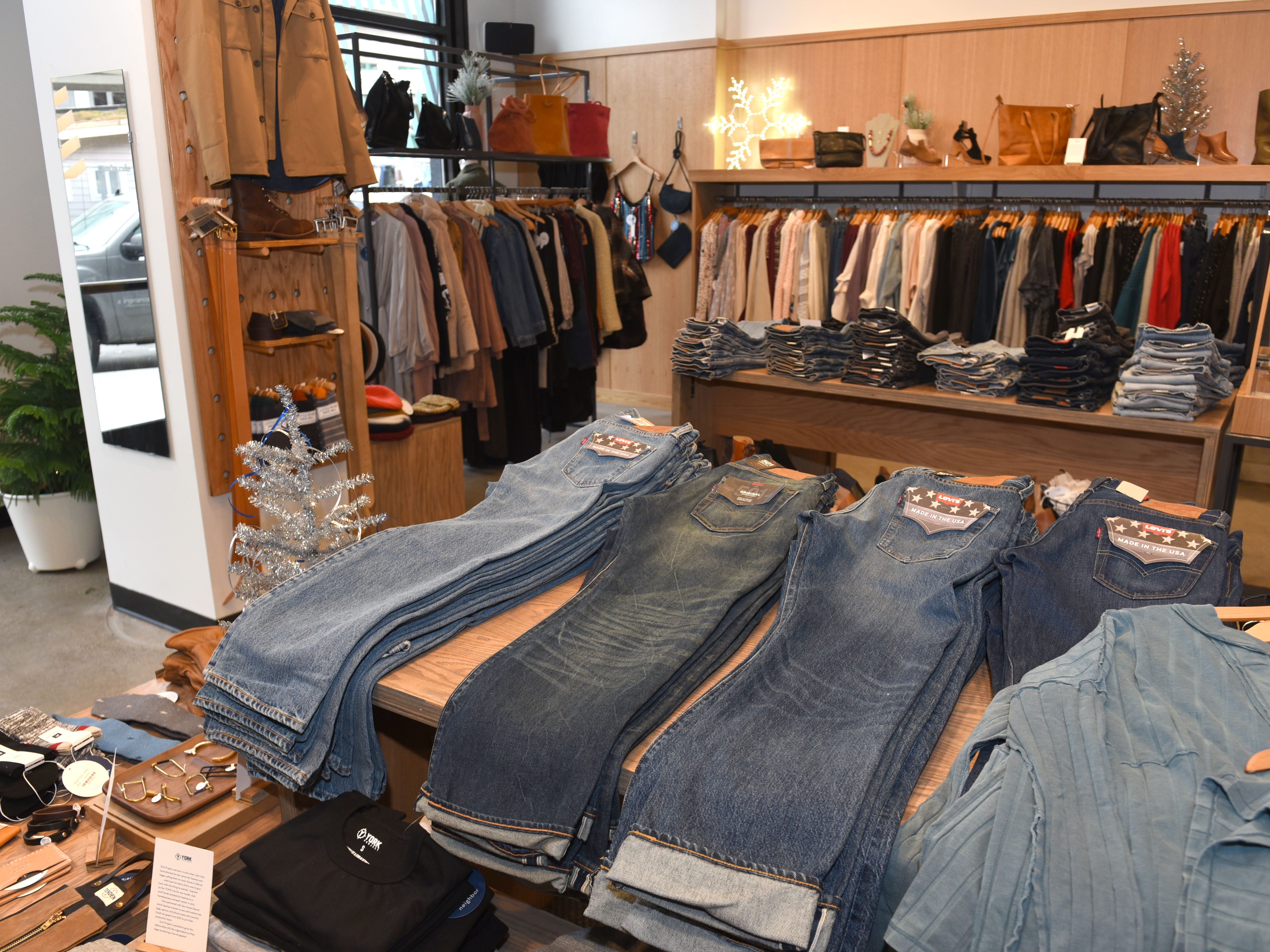 The Good Neighbor is a men's and women's clothing and accessories store inside the Shinola Hotel.