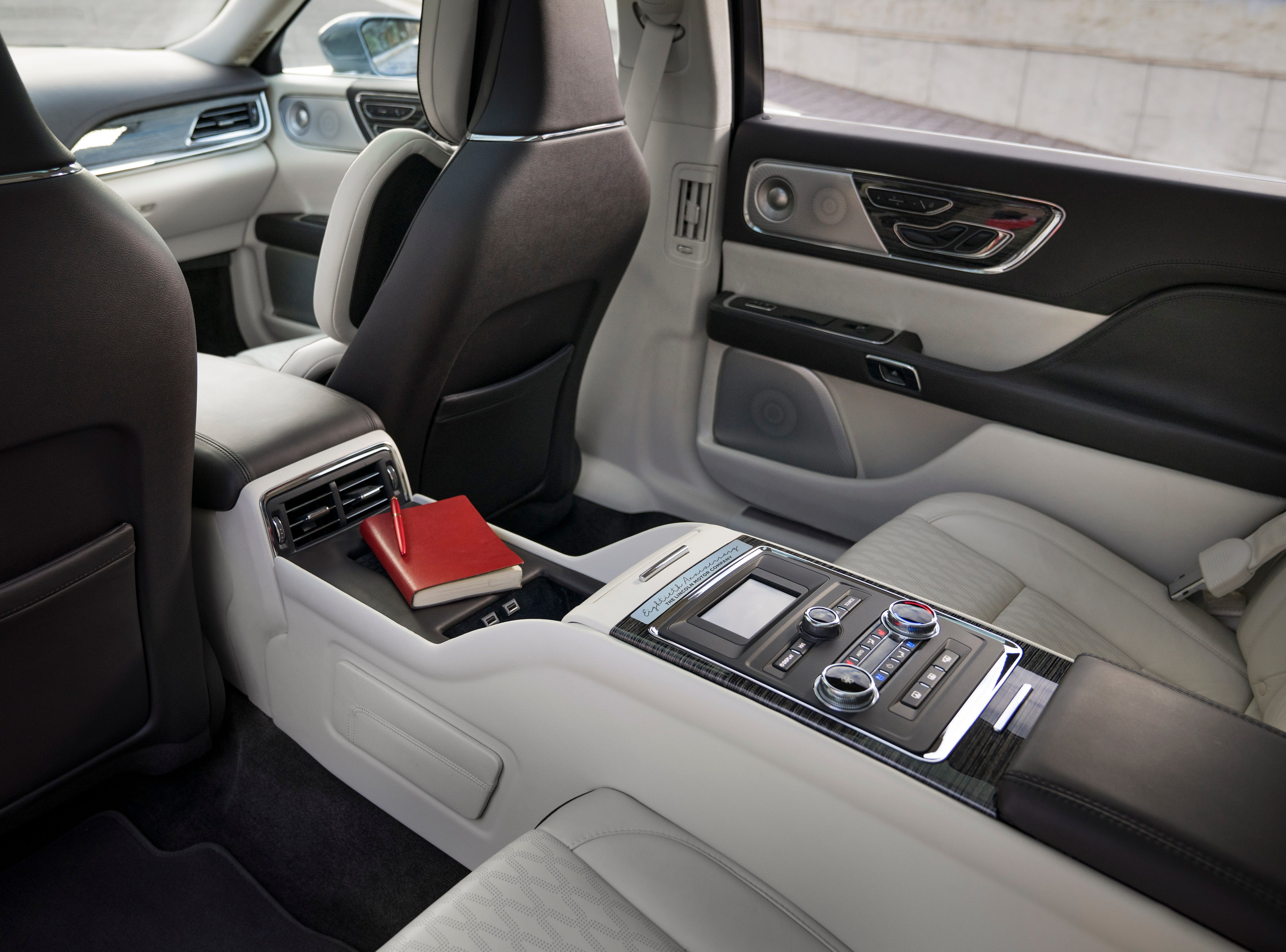 Inside, the Continental's center console will have controls, tray tables, wireless charging and other perks.