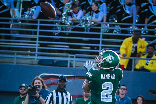 Blake Banham switched from running back to receiver, and has become a big-time weapon for the Eagles.