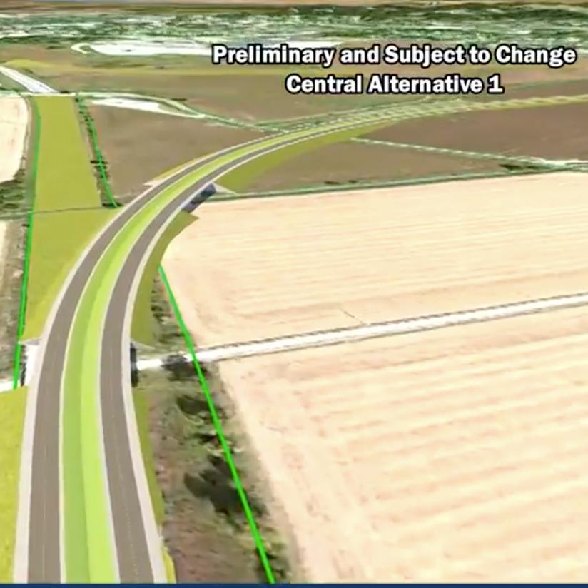 I-69 ORX project team announces preferred route for new Evansville-Henderson bridge