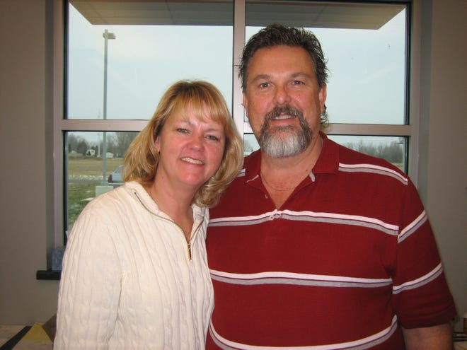 Pictured, Sandy and Dean Osborn, one of three local families involved in the donation match.