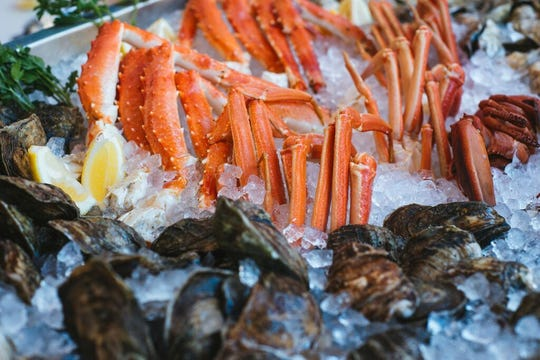 Seafood offerings from Jax Fish House & Oyster Bar.