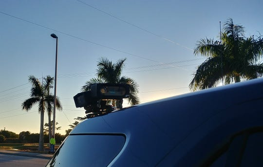 Radar and camaras attached to a patrol vehicle help make Cape Coral police officer's work easier.