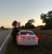 Officer Jeff Barkley stops a speeder off Diplomat Parkway in  Cape Coral.