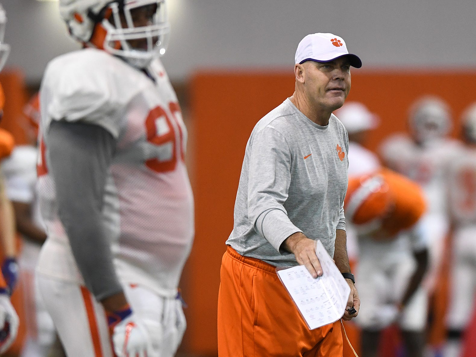 Clemson assistant head coach coach Danny Pearman during the Tigers Cotton Bowl practice on Friday, December 14, 2018.