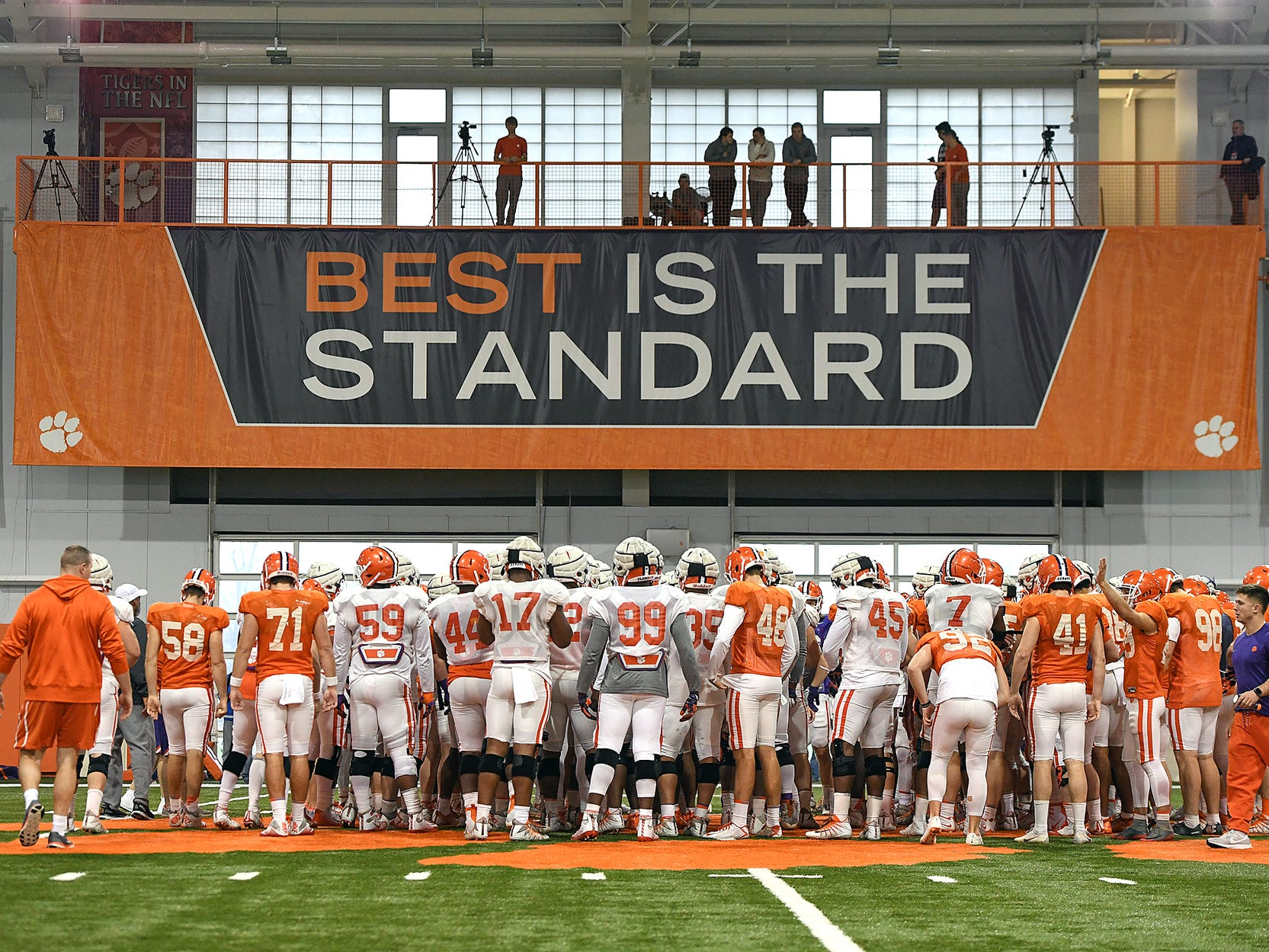 Clemson's Cotton Bowl practice on Friday, December 14, 2018.