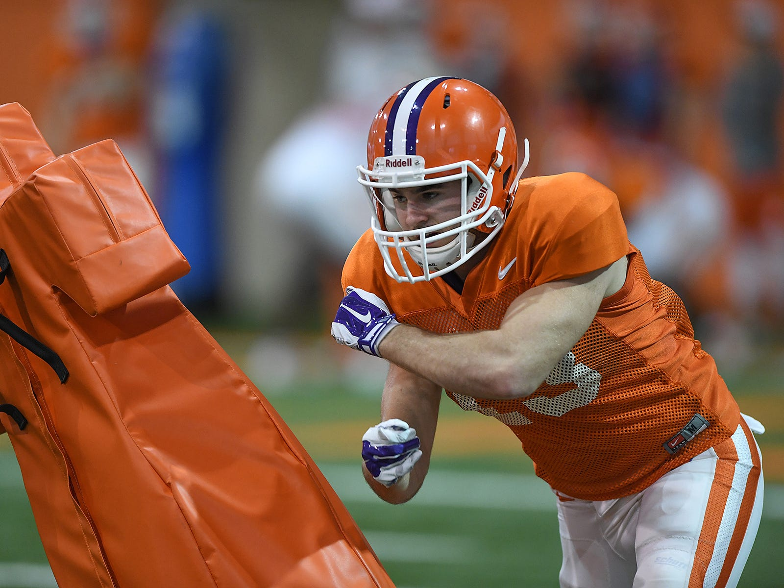 Clemson wide receiver Hunter Renfrow (13) runs drills during the Tigers Cotton Bowl practice on Friday, December 14, 2018.