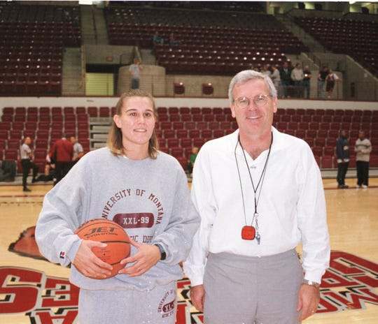 Former Malta star Linda Cummings poses with Montana Lady Griz head coach Robin Selvig in 1999.