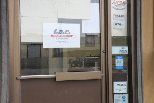 Front door of The Office Center