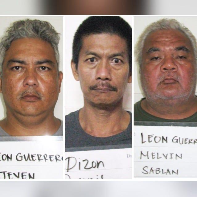Steven Leon Guerrero, Dennis Dizon, Melvin Leon Guerrero shown in this combined photo.