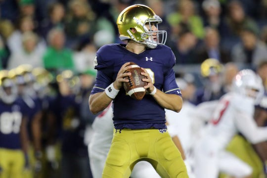 Notre Dame's offense took a leap forward when Ian Book replaced Brandon Wimbush after three games.