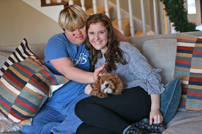 Molly Shaffer and Sky Simpson hang out at Molly's home, Wednesday, Dec. 12, 2018. The two have been best friends since fourth grade.