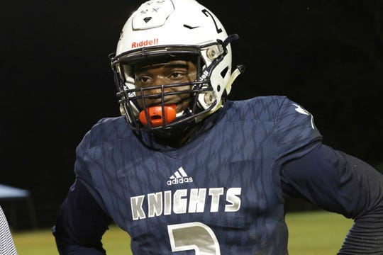 Linebacker Kervens Bonhomme of Clearwater Academy.