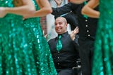 Eastern High School's Austin Hewitt, who lost his leg as a result of bone cancer, performs with his show choir at Riley Hospital.