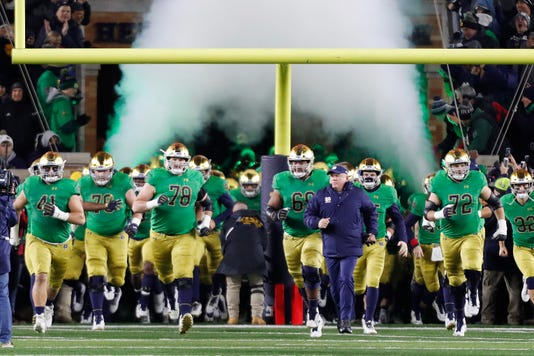 Ncaa Football Florida State At Notre Dame