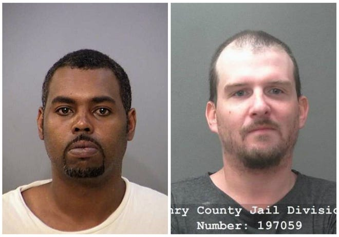Christopher Williams (left) and Jonathan O'Connor (right) were arrested in connection to abduction, beating of woman in Indianapolis.