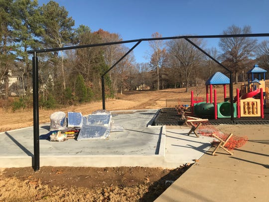 The foundation for the new padded playground at Jackson Christian's Early Learning Village has been poured, and they hope to have it complete early in 2019.