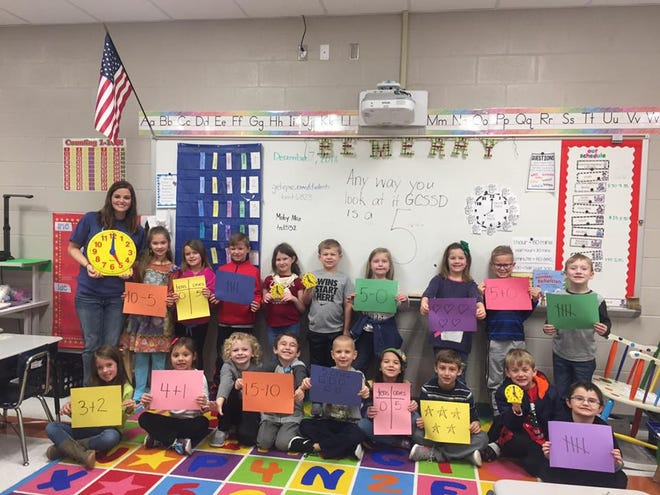 Lauren McLemore's first grade class at South Gibson Elementary was part of the social media celebration of GCSSD's Level 5 status last week.