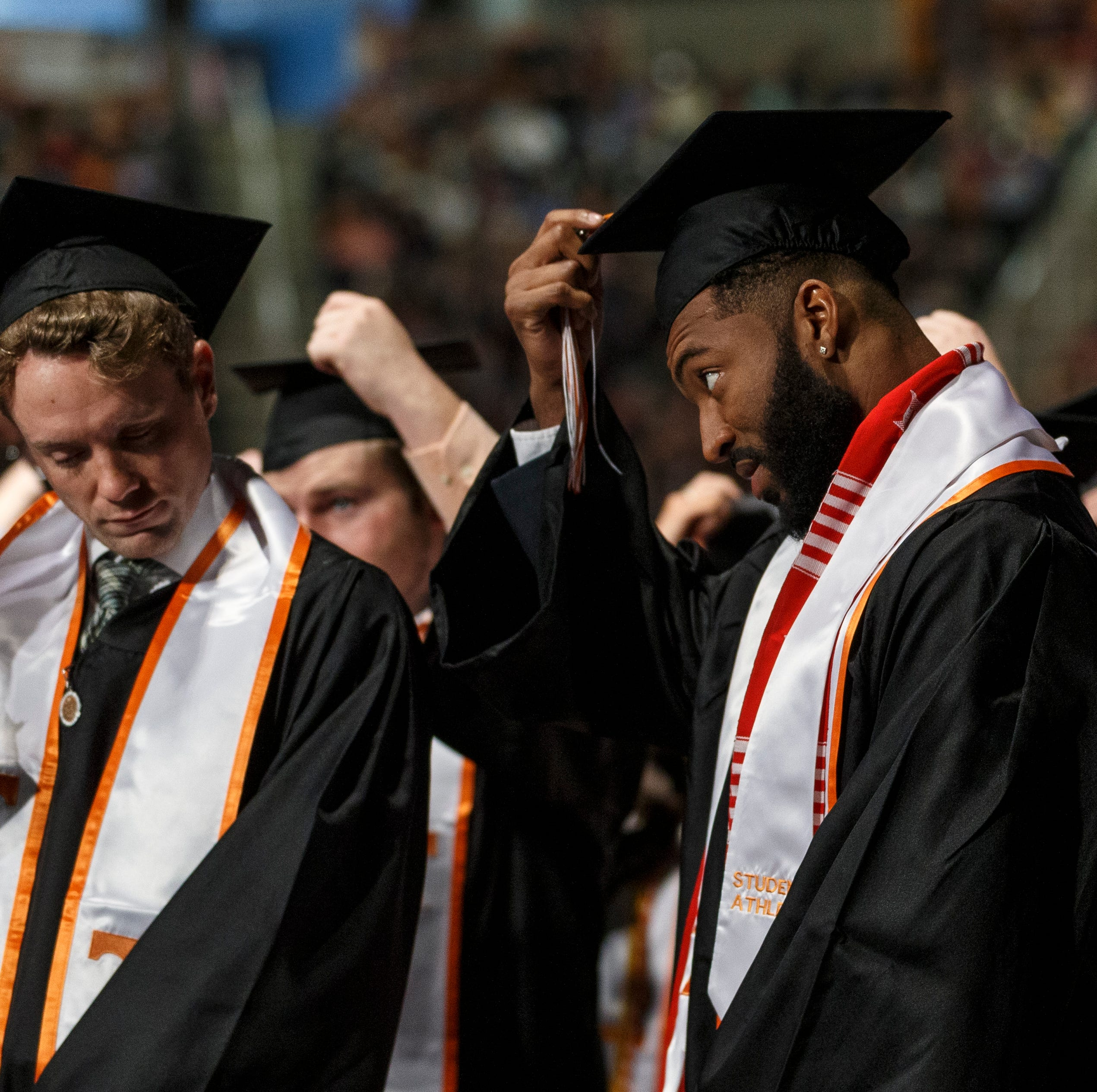 Which UT Vols football players graduated this semester?
