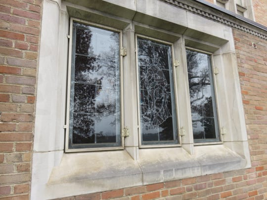 One of the windows at Second Presbyterian Church