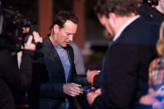 """Aquaman"" star Patrick Wilson greets fans at Regal's annual red carpet premiere for Variety at Regal Pinnacle Stadium 18, Thursday, Dec. 13, 2018."