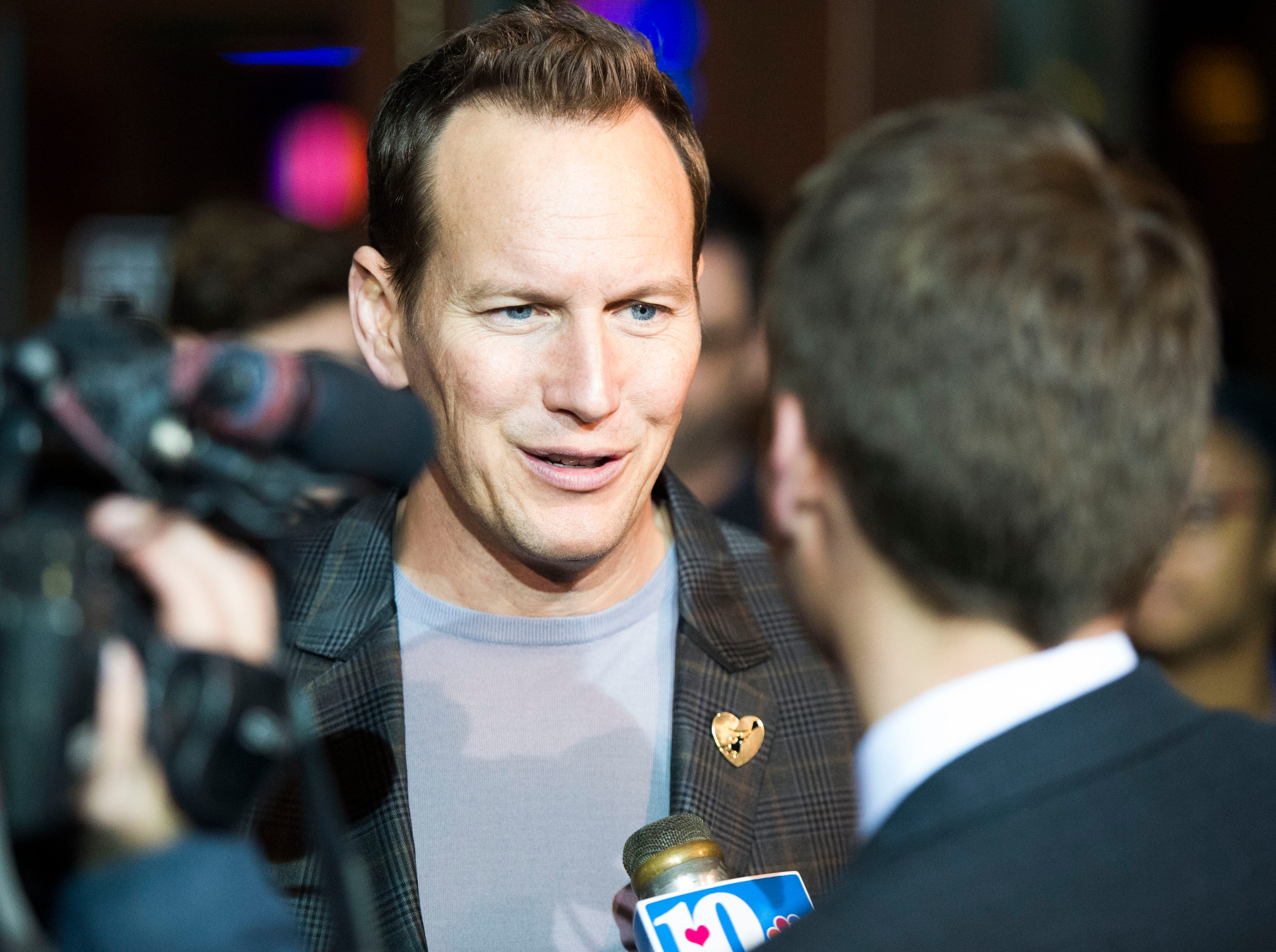 """""""Aquaman"""" star Patrick Wilson speaks to the media at Regal's annual red carpet premiere for Variety at Regal Pinnacle Stadium 18, Thursday, Dec. 13, 2018."""