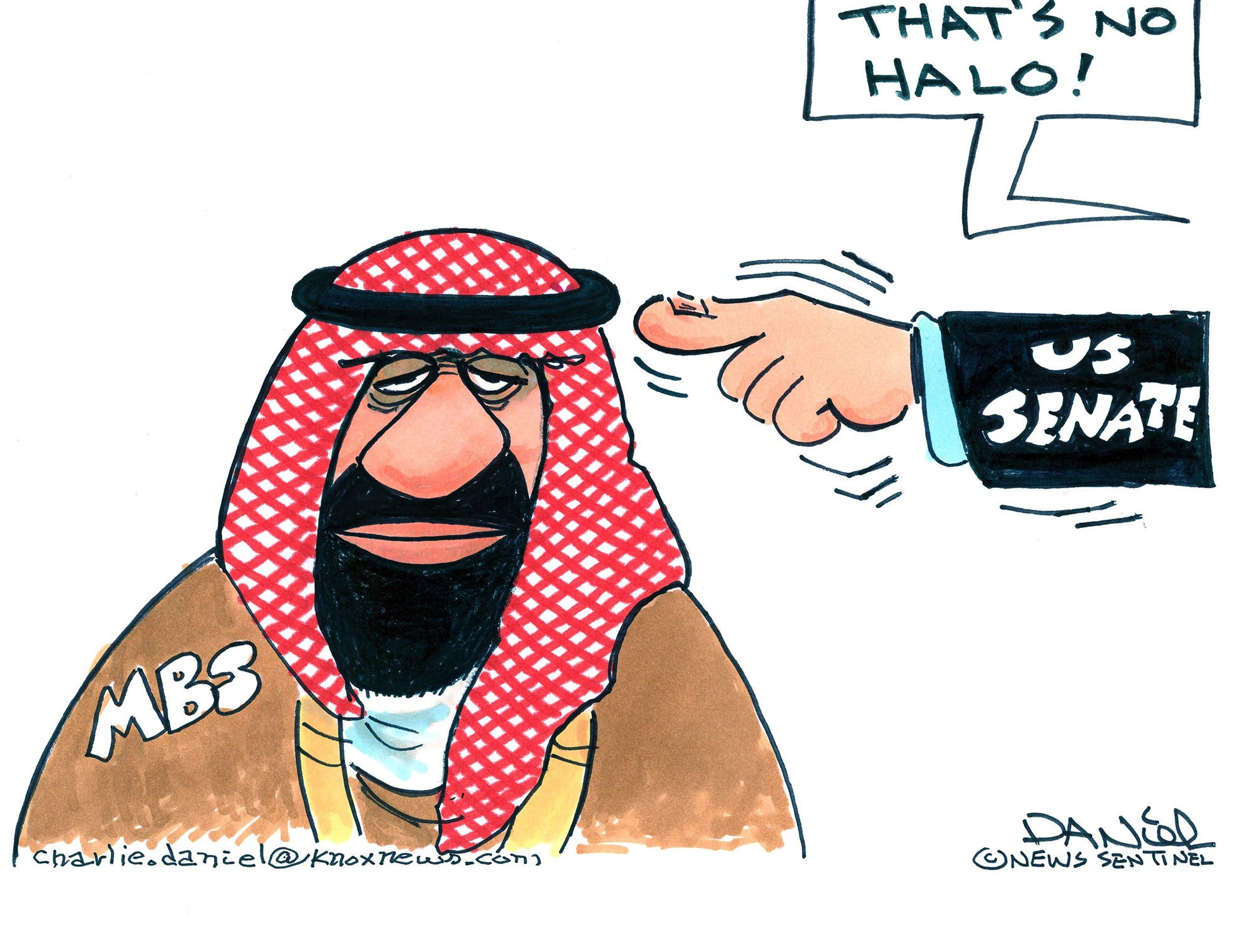 Charlie Daniel cartoon for Dec. 17, 2018