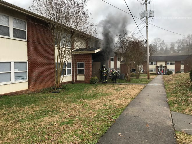 The Knoxville Fire Department extinguished a fire at the Morningside Hill apartment complex on Dec. 14, 2018. Robert Roche, the Assistant Chief, charged into the flames to pull a woman to safety.
