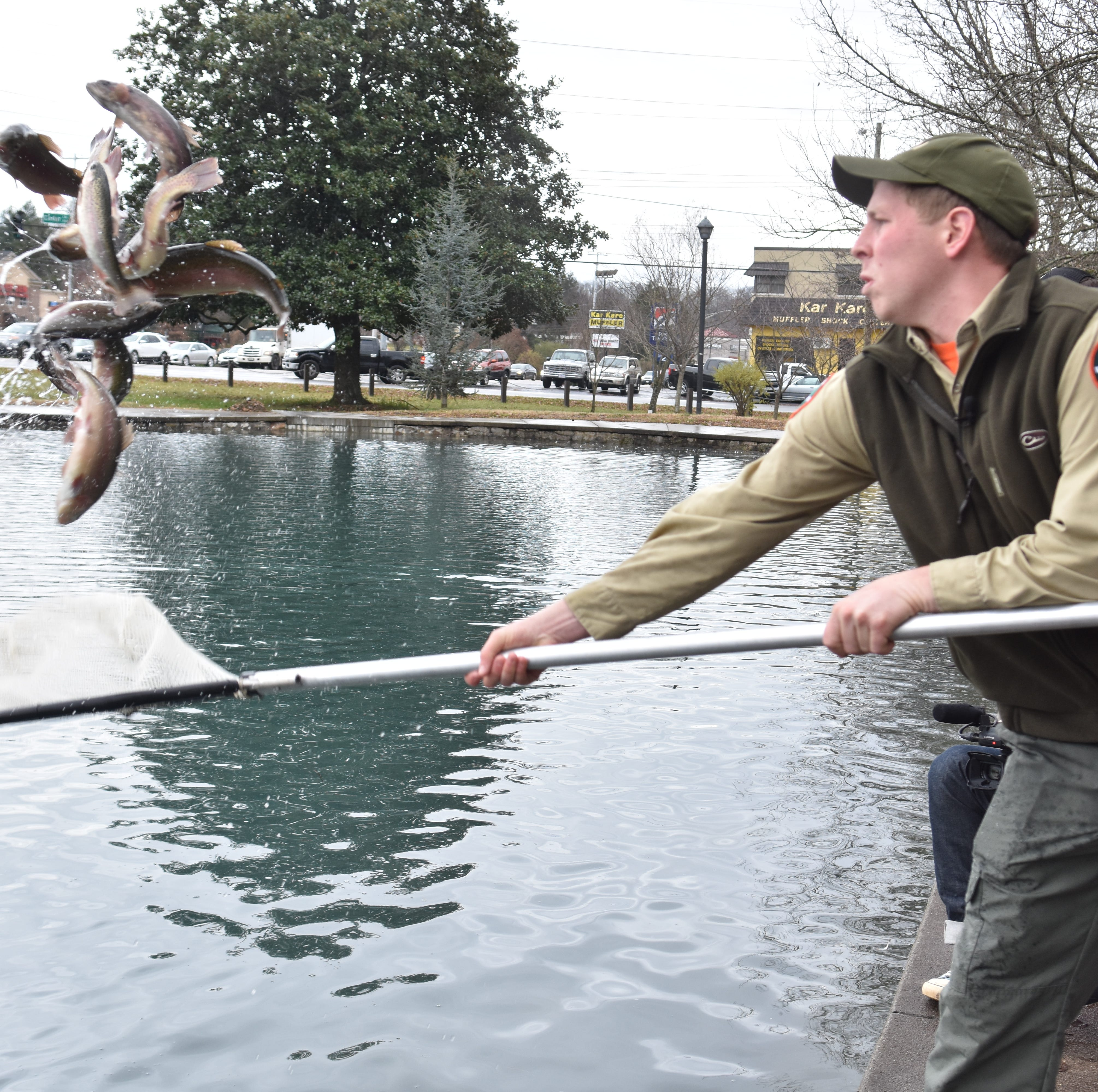 Fountain City Lake stocked with rainbow trout as cleanup efforts continue