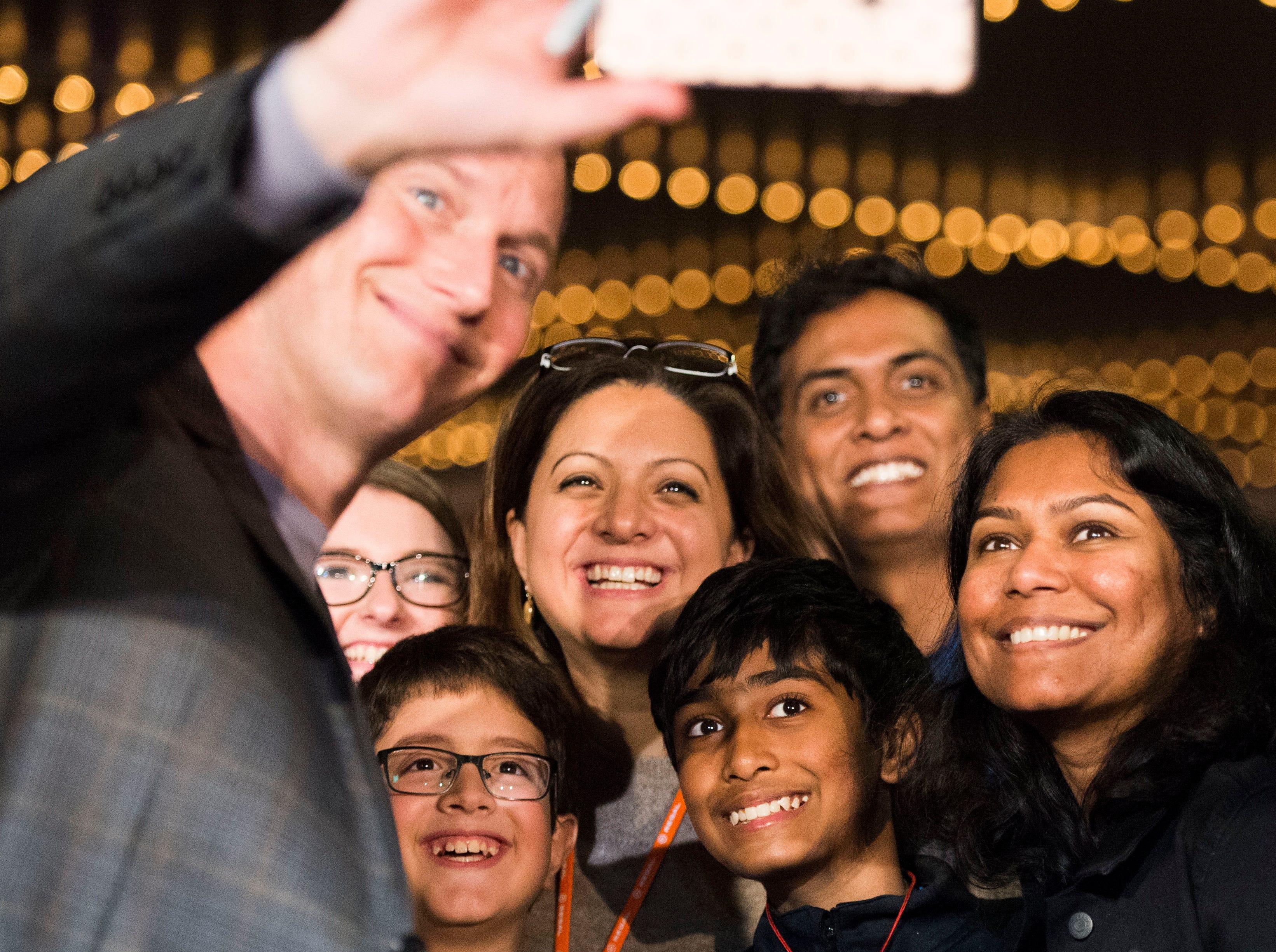 """Aquaman"" star Patrick Wilson greets fans at Regal's annual red carpet premiere for Variety at Regal Pinnacle Stadium 18, Thursday, Dec. 13, 2018."