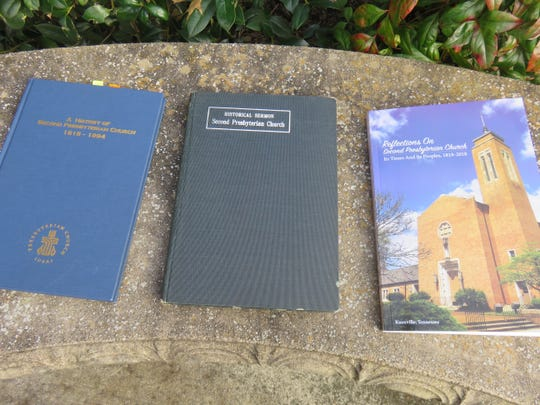 New Second Presbyterian history, right, with older church chronicles