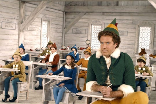 "Will Ferrell (right) stars as Buddy the Elf in ""Elf."""