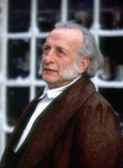 "George C. Scott portrays Ebenezer Scrooge in ""A Christmas Carol."""
