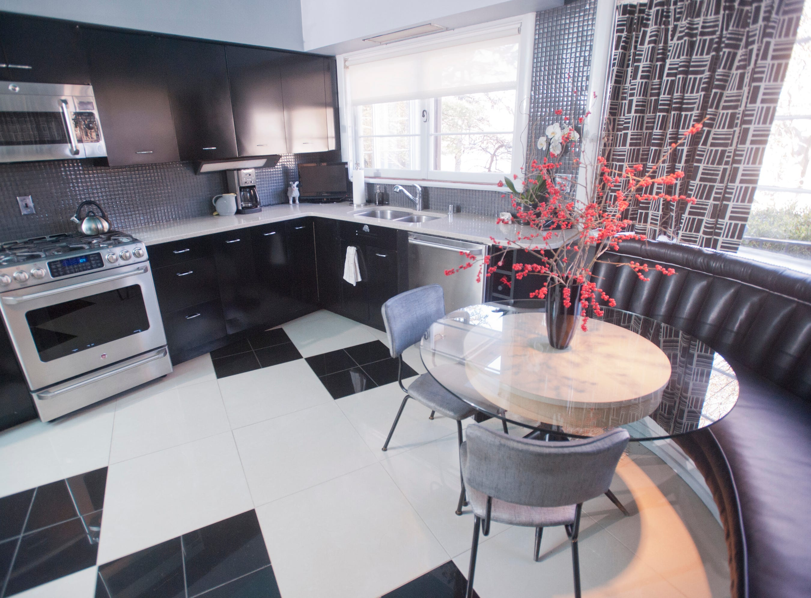 The family kitchen including a small kitchen table.10 December 2018