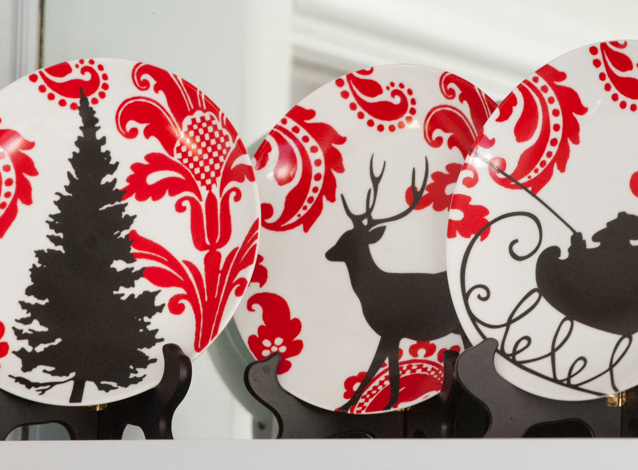 These Santa dishes on a shelf in the dining room were a gift of Cannady to Casebier last year.10 December 2018
