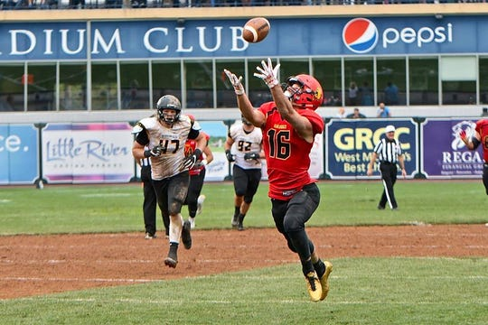 Ferris State's Sy Barnett, a former Williamson star, led the Bulldogs in receiving this season while averaging 23 yards per catch.