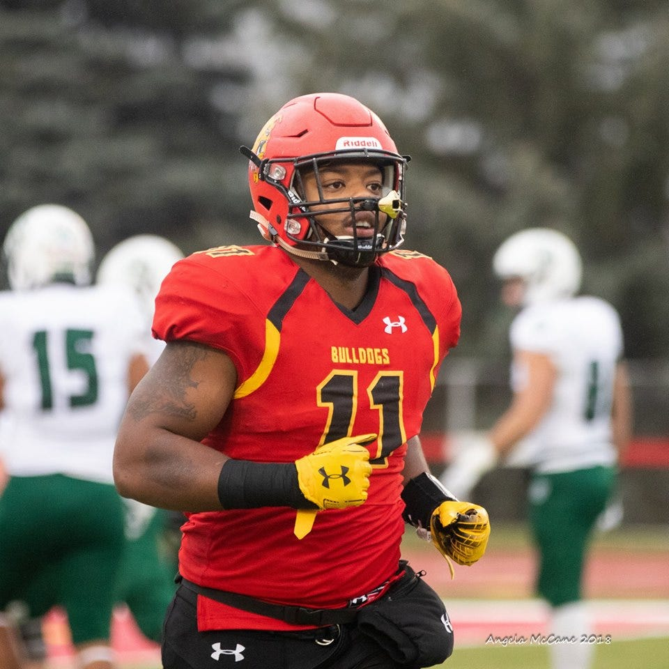 Former Lansing Sexton star Avonte Bell has become too good to take off the field at middle linebacker for Ferris State.